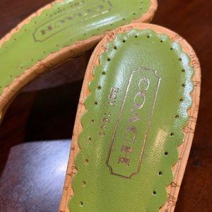 Coach Shoes - *NEW * Lime Green COACH Kitten Heels 💚